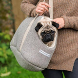 Mutts and Hounds Luxury Grey Tweed Dog Carrier