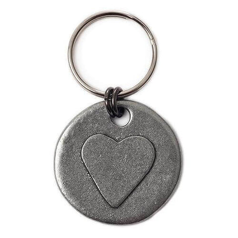 Heart Motif Dog Tag