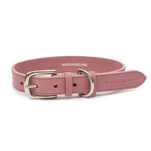 Mutts and Hounds Luxury Heather Leather Dog Collar