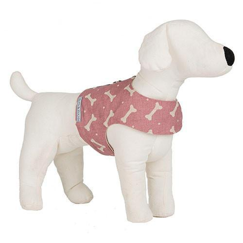 Mutts and Hounds Luxury M&H Heather Bone Linen Soft Harness