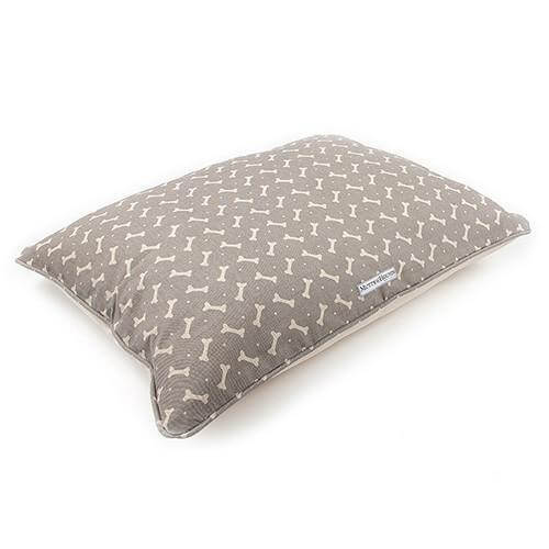 Mutts and Hounds Luxury M&H Mushroom Bone Linen Pillow Bed