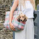 Mutts and Hounds Luxury Macaroon Check Tweed Dog Carrier