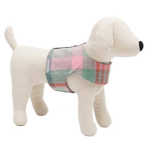 Mutts and Hounds Luxury Macaroon Check Tweed Soft Harness