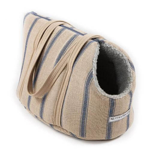 Mutts and Hounds Luxury Navy Nordic Stripe Dog Carrier