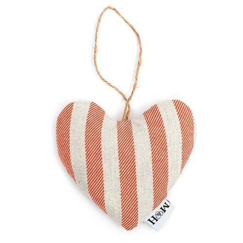 Mutts and Hounds Luxury Orange Stripe Brushed Cotton Lavender Heart