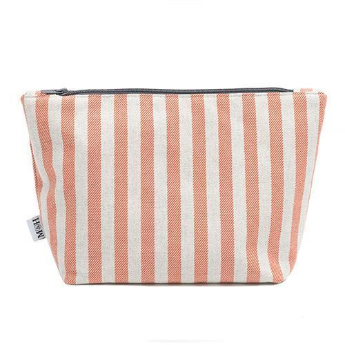 Mutts and Hounds Luxury Orange Stripe Brushed Cotton Wash Bag