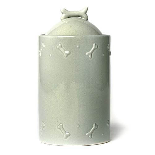 Mutts and Hounds Luxury Sage Green Ceramic Biscuit Jar