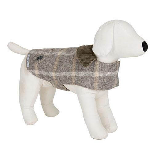 Mutts and Hounds Luxury Slate Tweed Coat