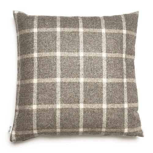 Mutts and Hounds Luxury Slate Tweed Cushion