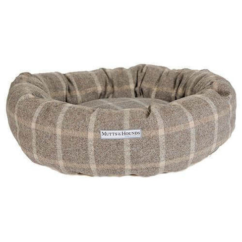 Slate Tweed Donut Dog Bed