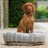 Mutts and Hounds Luxury Slate Tweed Donut Bed