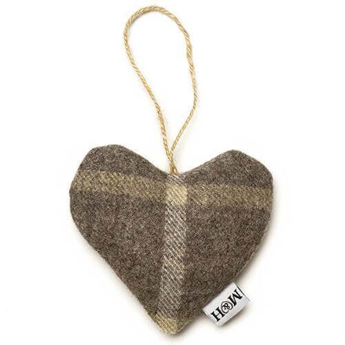 Mutts and Hounds Luxury Slate Tweed Lavender Heart