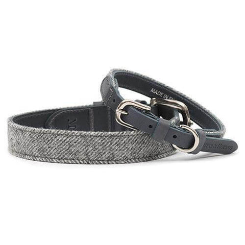 Stoneham Tweed & Leather Dog Collar