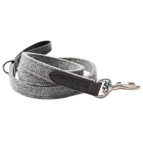 Mutts and Hounds Luxury Stoneham Tweed Dog Lead