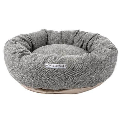 Stoneham Tweed Donut Dog Bed