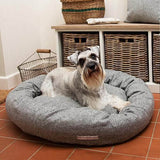Mutts and Hounds Luxury Stoneham Tweed Donut Bed
