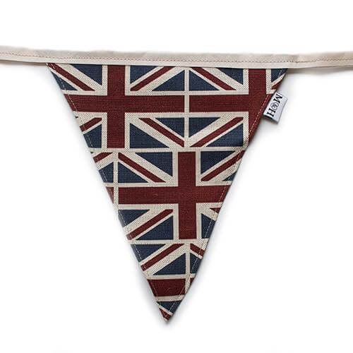 Mutts and Hounds Luxury Union Jack Bunting