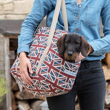 Mutts and Hounds Luxury Union Jack Linen Dog Carrier