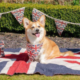 Mutts and Hounds Luxury Union Jack Linen Neckerchief