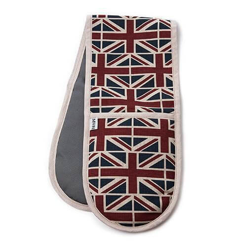 Mutts and Hounds Luxury Union Jack Linen Oven Gloves