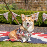 Mutts and Hounds Luxury Union Jack Linen Soft Harness