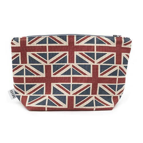 Mutts and Hounds Luxury Union Jack Linen Wash Bag