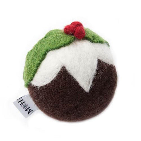 Wool Christmas Pudding Dog Toy