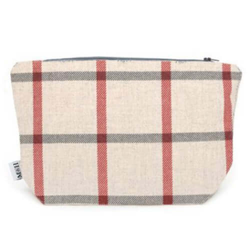 Nottingham Check Brushed Cotton Wash Bag
