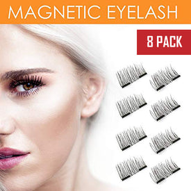 8x Magnetic Eyelashes [No Glue] False Eyelashes Set for Natural Look - 3D Reusable - Single Magnetic Lining
