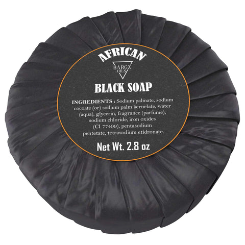Image of African Black Soap - 100% Pure - Best for Treating Rosacea, Rashes, Dryness and other skin conditions - 2.80 OZ BargzOils