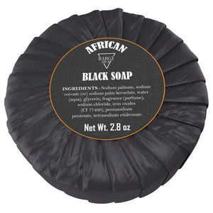 African Black Soap - 100% Pure - Best for Treating Rosacea, Rashes, Dryness and other skin conditions - 2.80 OZ BargzOils