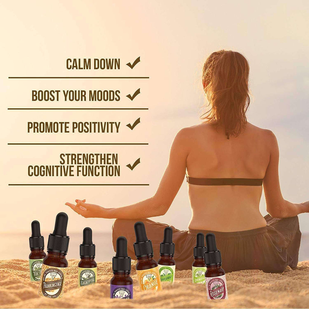 8 Pack Essential Oil Set [RELAXING SCENT] Oil BargzOils