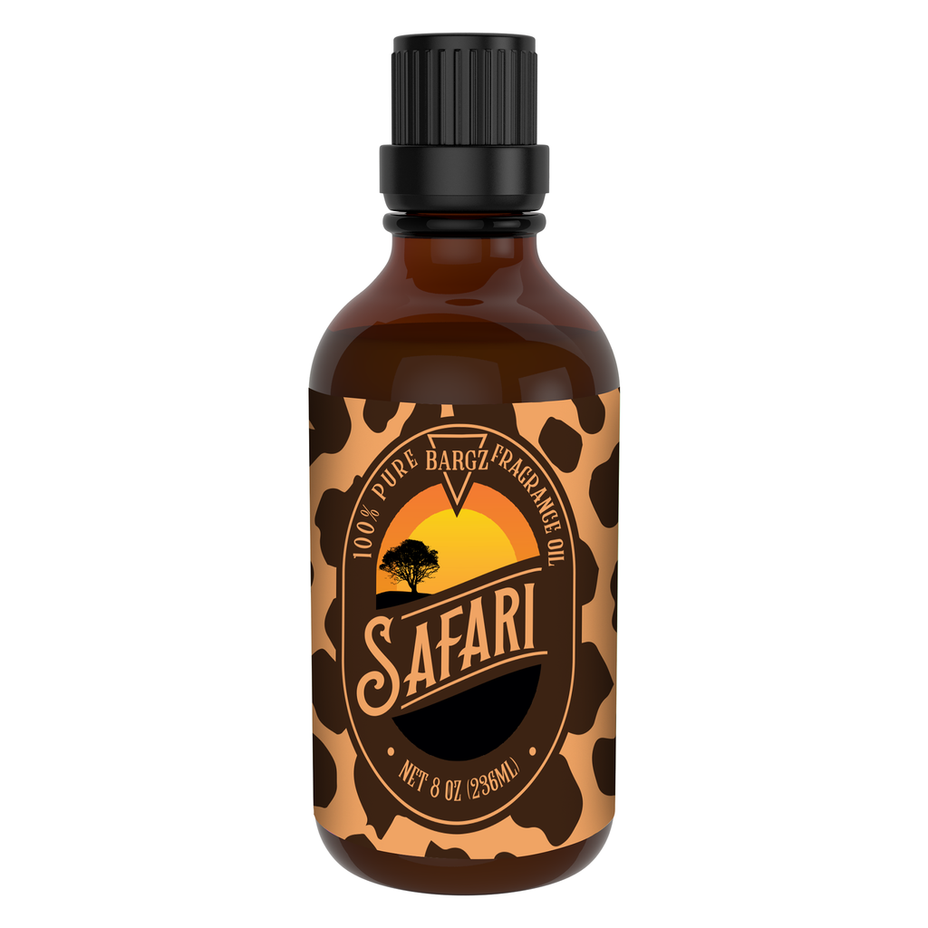 Safari Perfume Oil, Tropical Fragrance, Glass Amber Bottle