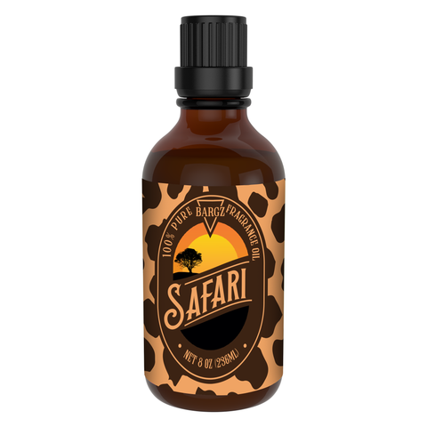 Image of Safari Perfume Oil, Tropical Fragrance, Glass Amber Bottle