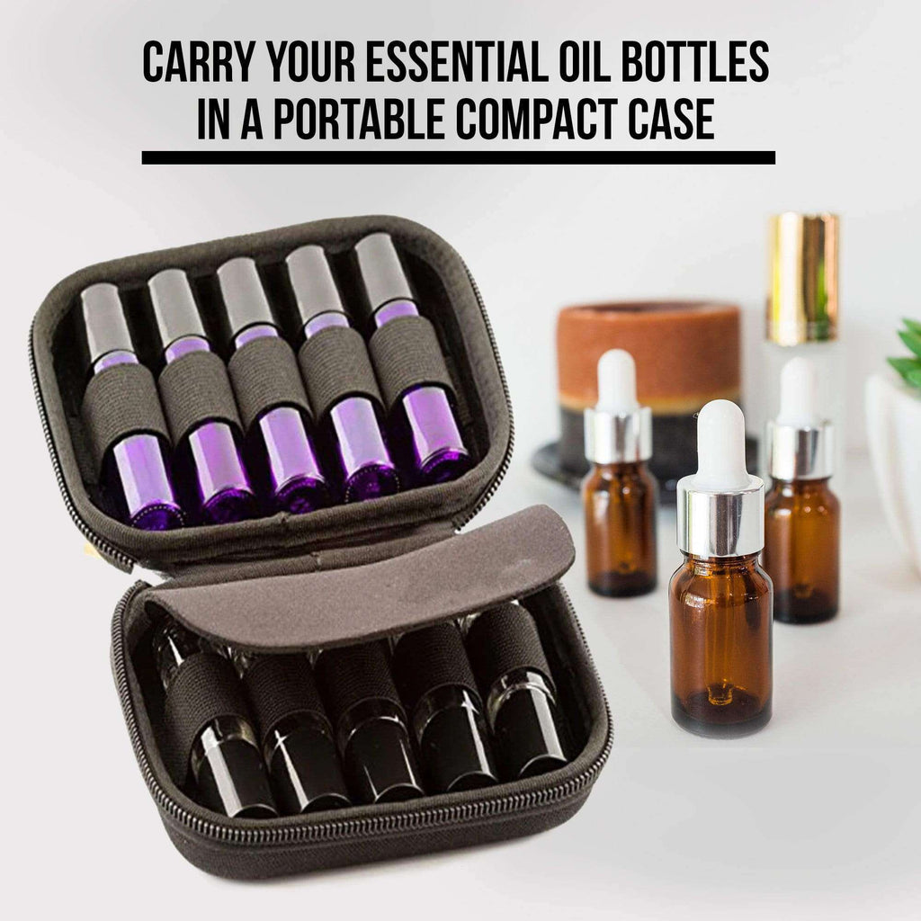 10 Slot Bottle Case Protect For 10ML Rollers Essential Oils Bottle Storage Bag Travel Carrying Organizer Holder Makeup Rangement