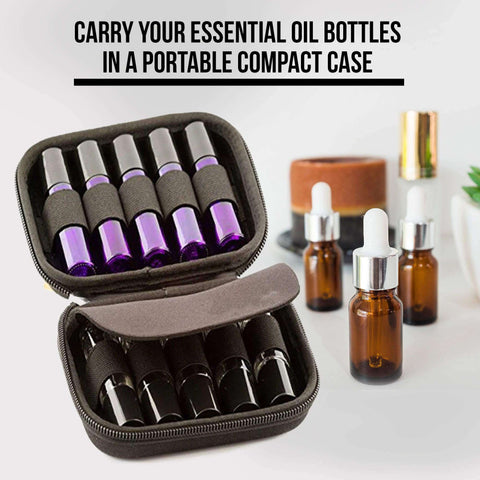 Image of 10 Slot Bottle Case Protect For 10ML Rollers Essential Oils Bottle Storage Bag Travel Carrying Organizer Holder Makeup Rangement
