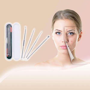 DUcare Makeup Tool Kit 4PCS Acne Blackhead Removal Needle Stainless Steel Pimple Spot Cleanser Extractor Face Clean Care Tool