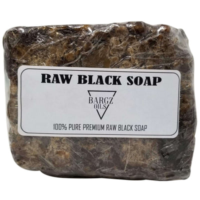 Raw Black Soap - 100% Pure - Best for Treating Rosacea, Rashes, Dryness and other skin conditions - 1 LB BargzOils