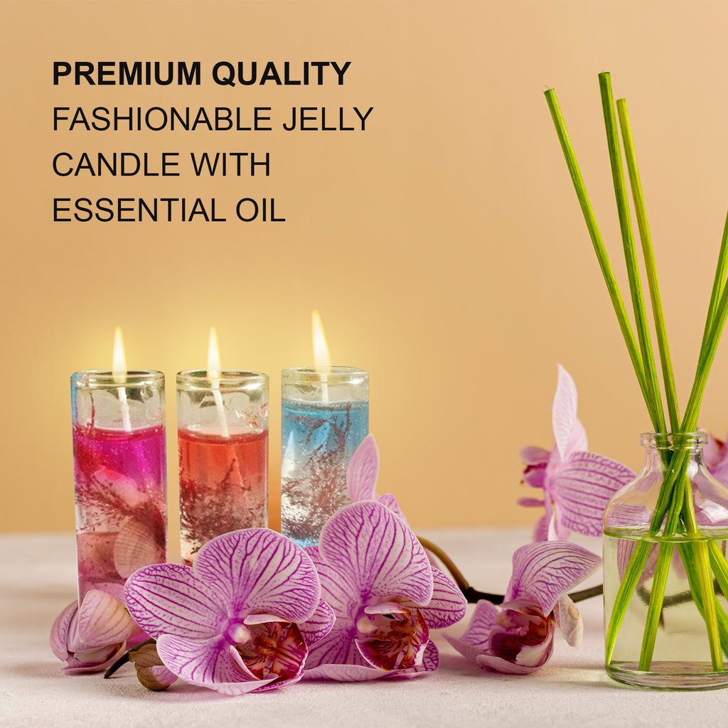 Candle 2018 Hot Fashion High Quality Ocean Shells Jelly Essential Oil Wedding Romantic Candles Modern