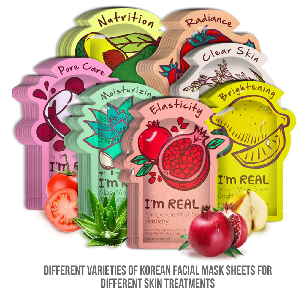 I'm REAL Tony mony Face Mask Moisturizing Facial Mask Oil Control Whitening Shrink Pores Korean Sheet Face Mask Skin Care