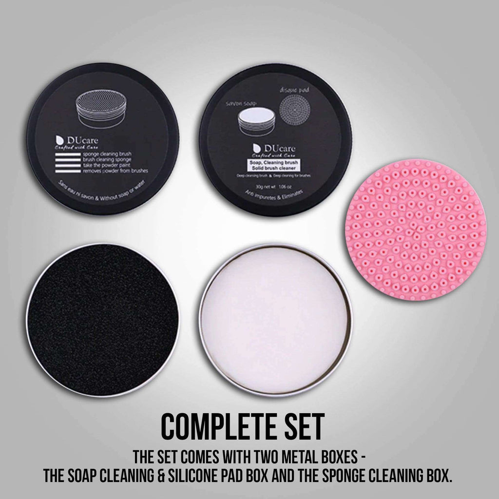 DUcare Makeup Brush Cleaner Sponge Powder Remover Soap Cleaning Washing Brush Silicone Pad Mat Box Make Up Cosmetic Tools