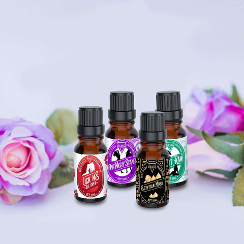 Fragrance Oil Sample Pack [Lick Me All Over | Eat it Raw | Egyptian Musk | All Night Long]