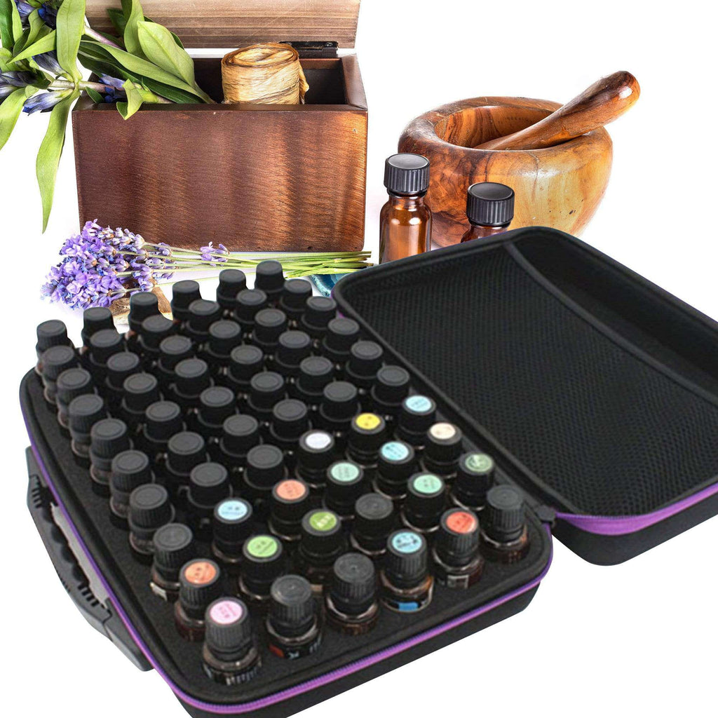60 Bottles Essential Oil Case Storage Bag Holder Portable Travel Essential Oil Bottle Organizer Women Perfume Oil Collect Case