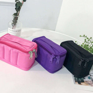 Portable 8 Bottle 5ml 10ml Essential Oil Storage Bag Cotton Carrying Holder Case Travel Nail Polish Organizer Storage Box Bags