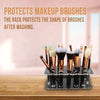 Transparent 20 Holes Makeup Brush Holder Acrylic Make Up Brushes Stand Drying Rack Shelf Cosmetic Accessories Organizer #290767