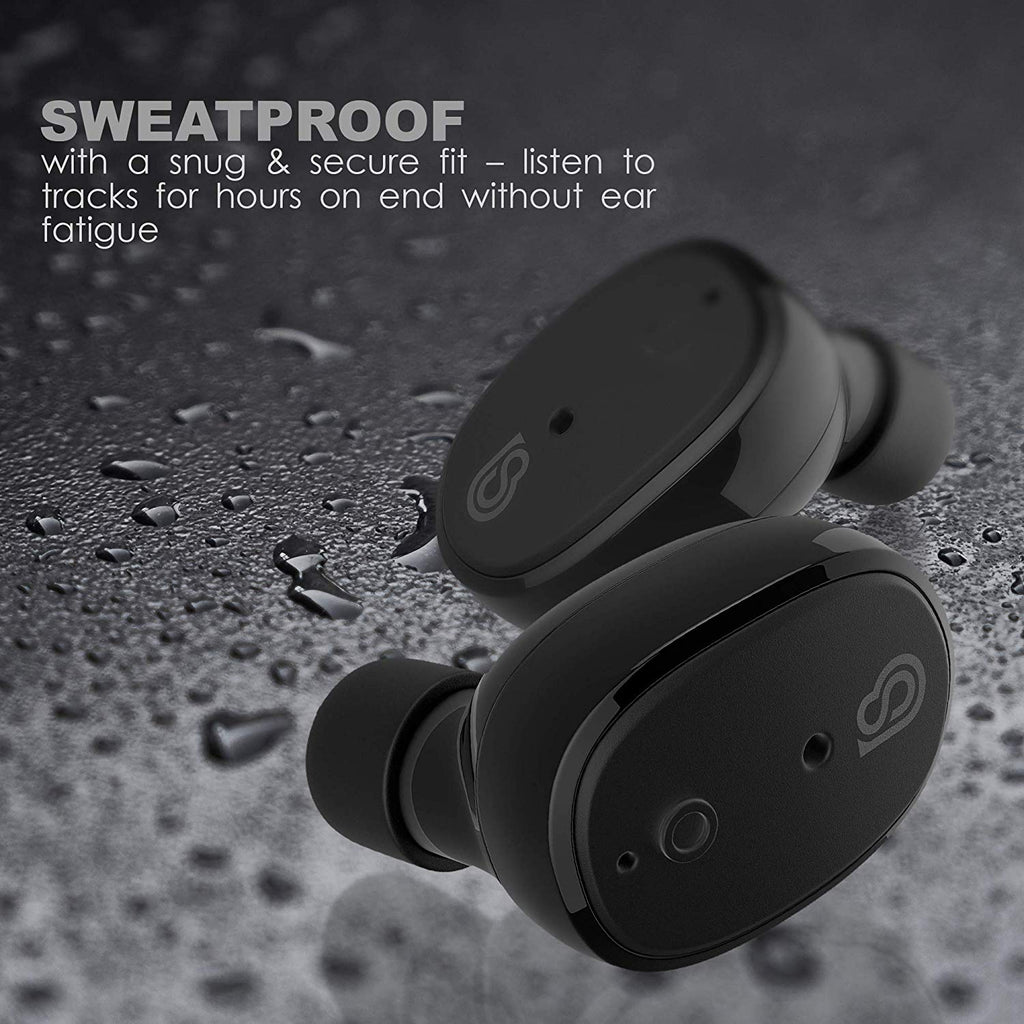 StealthBeats Bluetooth Wireless Headphones with Microphone [INVISIBLE EARPHONES] Running Earbuds with Dock Charger
