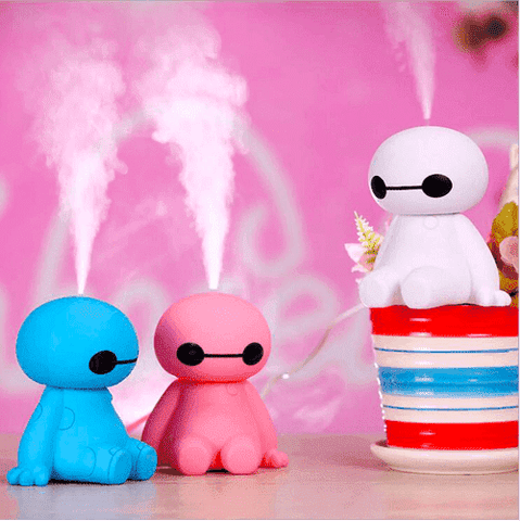 Image of 200ML USB Big Hero Baymax Dry Protect Ultrasonic Essential Oil Aroma Diffuser Air Humidifier Mist Maker for Home Office Oil Diffuser BargzOils