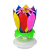 Birthday Cake Flower Candles with Happy Birthday Music Rotating Setup - Mix