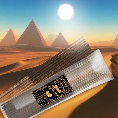 Image of Egyptian Musk Natural Incense Stick [11 in] Lasting Relaxing Fragrance - 20 Pack