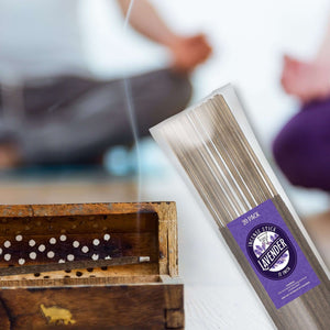 Lavender Natural Incense Stick [11 in] Lasting Relaxing Fragrance - 20 Pack Incense BargzOils